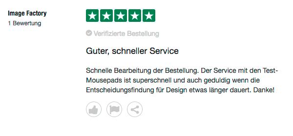 guter schneller Service Design Hilfe und 5 Sterne für Mr. Mousepad